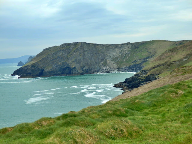 Cliff top views from cliffs at Tintagel, Cornwall