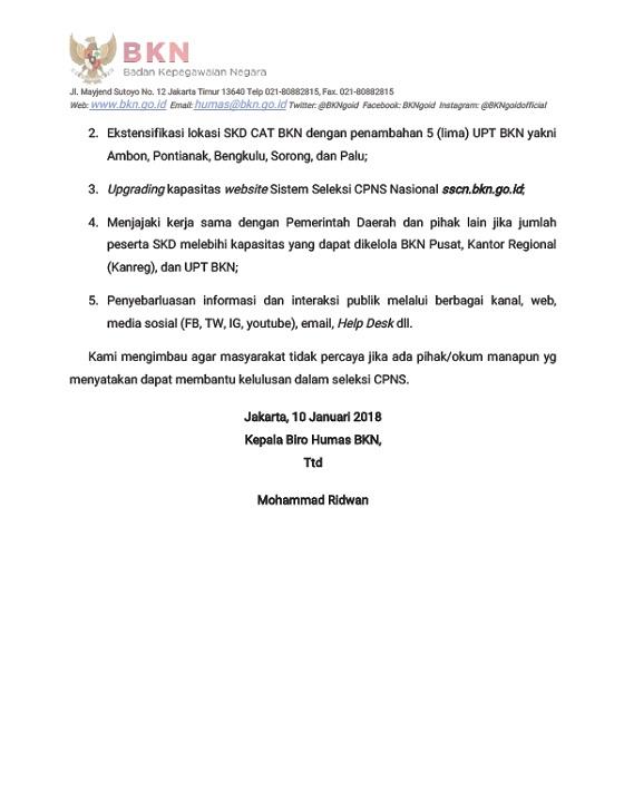 Rekrutmen CPNS 2018, Akses Info Pengumuman di bkn.go.id dan menpan.go.id