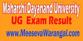 Maharshi Dayanand University UG 2016 Exam Result