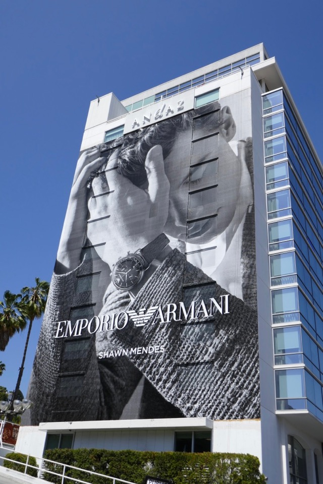 828ad994bf92 Daily Billboard  Shawn Mendes Emporio Armani smartwatch billboard ...