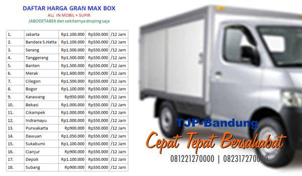 Sewa rental truk box Bandung  murah
