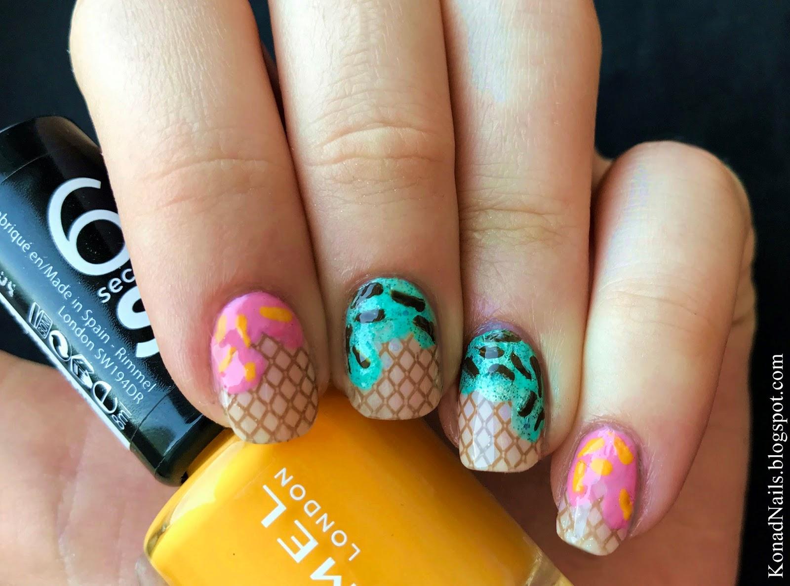 Ice cream nails | Konad Addict | Bloglovin\'