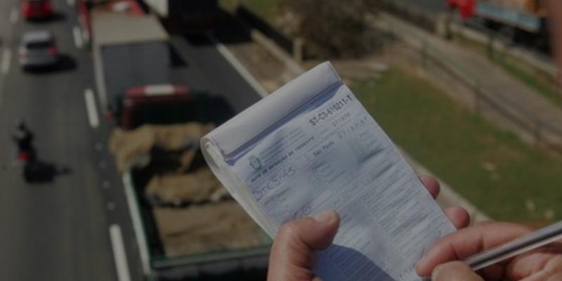Notificação da multa de trânsito