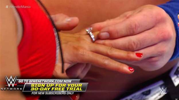 John Cena Gushes Over Getting Engaged to Nikki Bella During WrestleMania -- See the Ring!