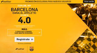 betfair supercuota 4 Barcelona gana Athletic Copa 11 enero