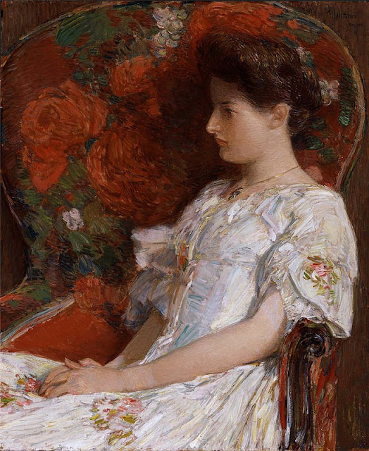 Frederick Childe Hassam -The Victorian Chair