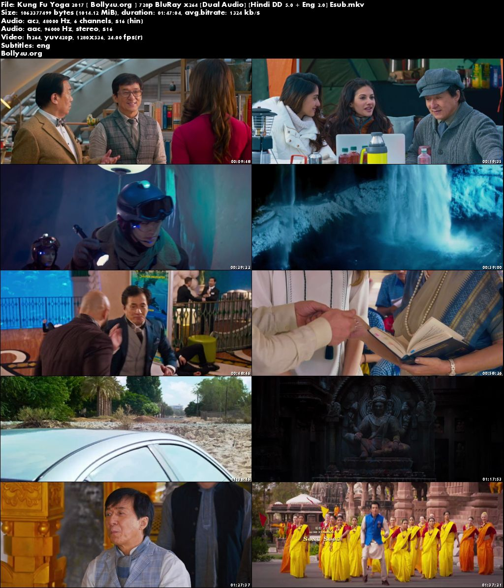 Kung Fu Yoga 2017 BluRay 999MB Hindi Dual Audio 720p ESub Download