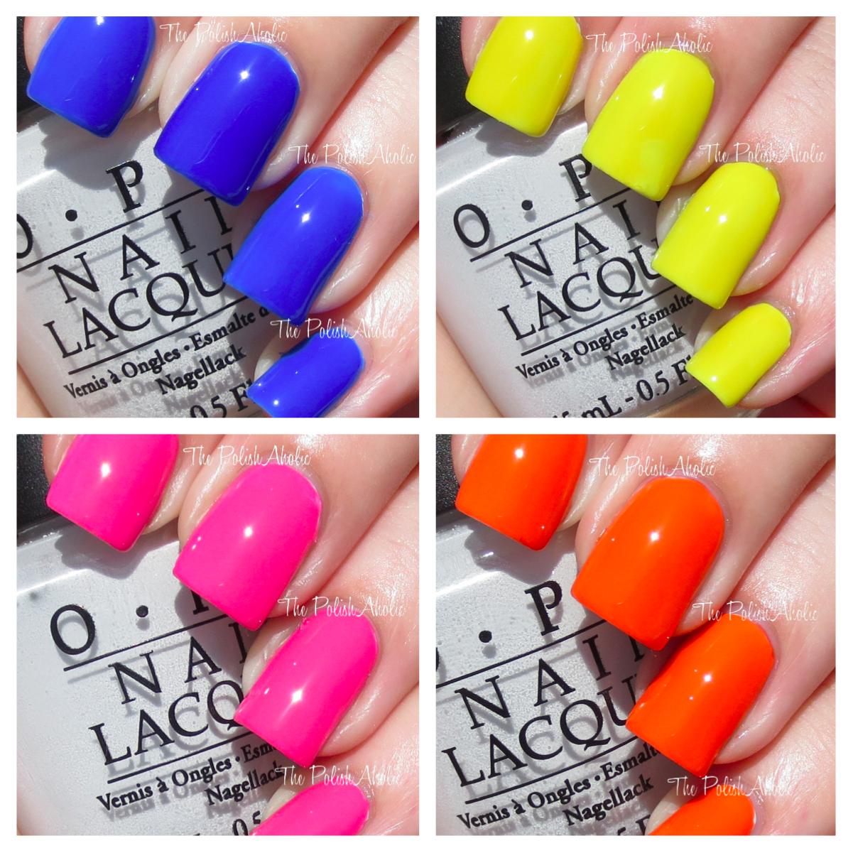 the polishaholic opi neon revolution mini set swatches review