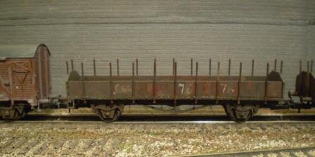 HO scale  stake wagons