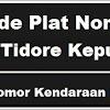 Kode Plat Nomor Kendaraan Kota Tidore Kepulauan