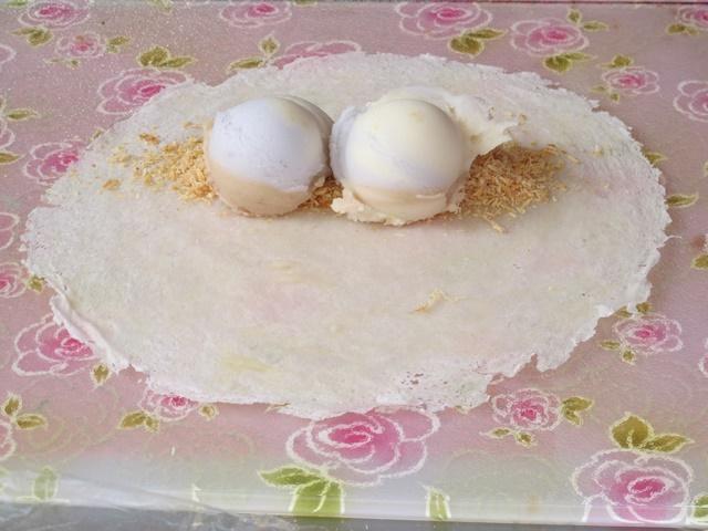 阿宗芋冰城花生捲+冰淇淋