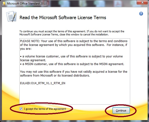 how to check ms office 2010 license status