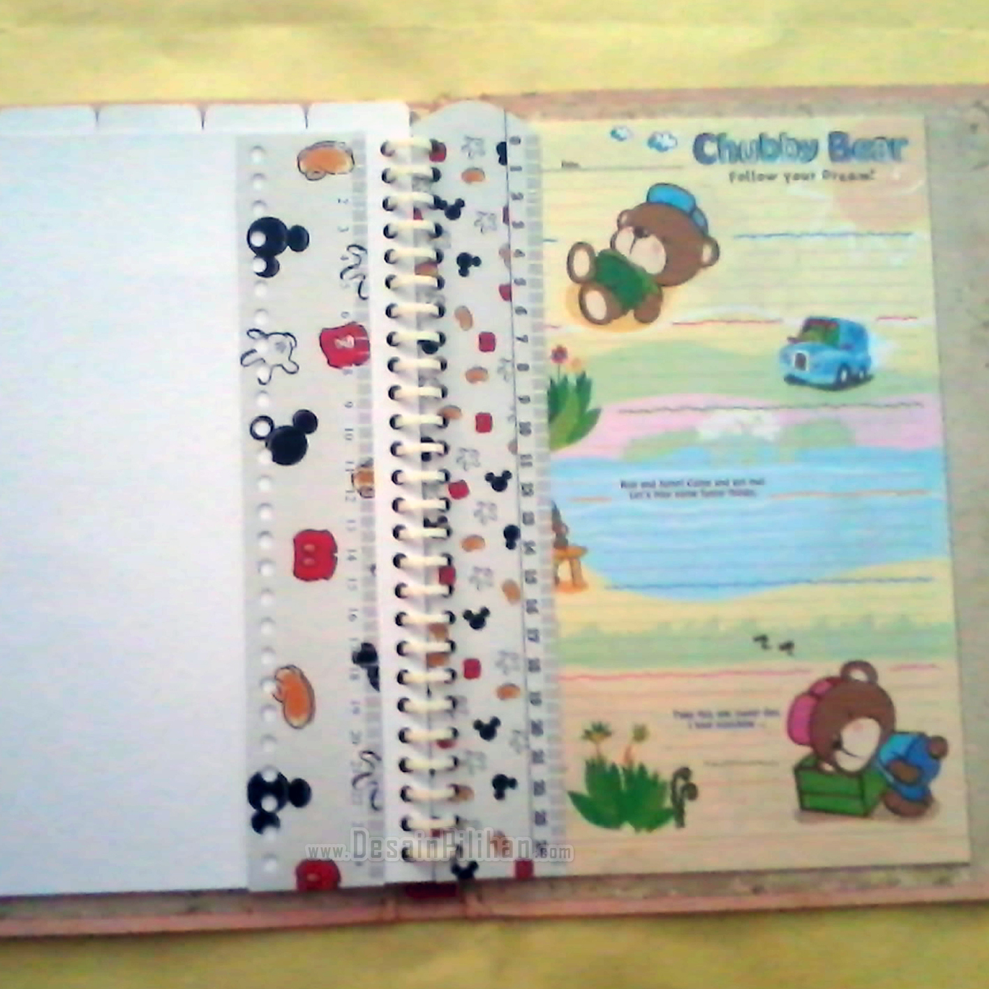 RULER DIVIDER BINDER CUSTOM, PENGGARIS BINDER CUSTOM MINNIE MIECKEY MOUSE
