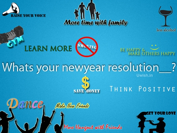 What is your new-year resolution? - Tag Friends