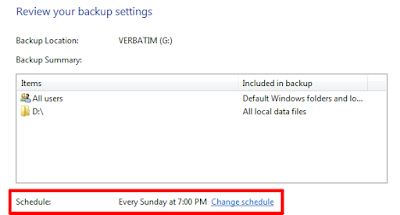 Backup Data Komputer Windows 7 Jadwal