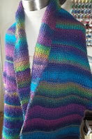 Image of arced T shawl front