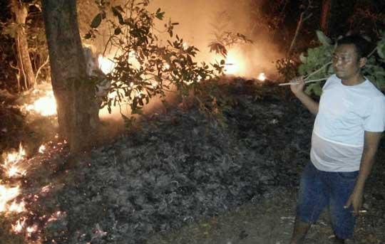 wilayah kecamatan kasokendil dilanda kebakaran