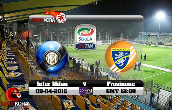 مشاهدة مباراة فروسينوني وإنتر ميلان اليوم 9-4-2016 في الدوري الإيطالي