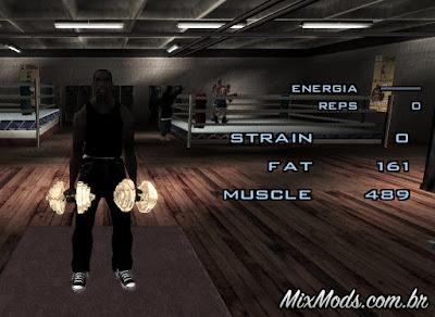 ganho realista de músculo gta