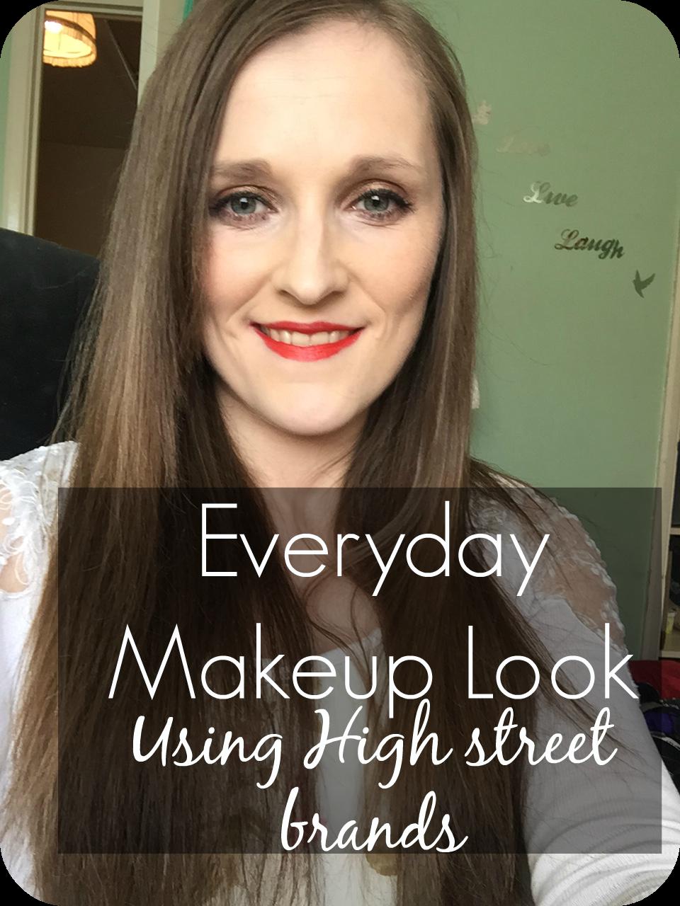 everyday makeup look using high street brands