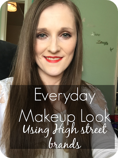 everyday makeup look using high street brands