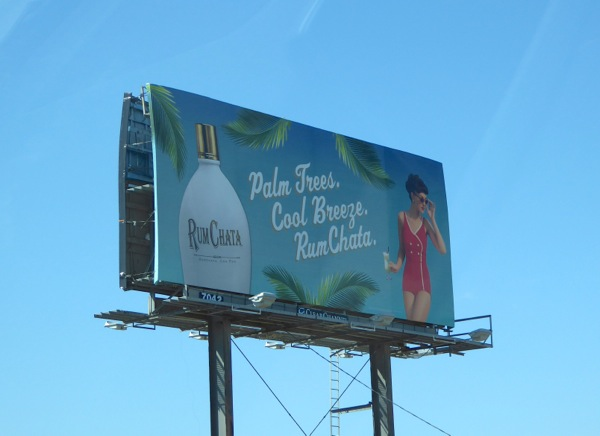Palm trees cool breeze Rum Chata billboard