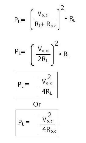 Electrical Circuits Amp Network Theorems Maximum Power