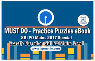"""MUST DO"" – Practice Puzzles eBook especially for SBI PO Mains 2017"