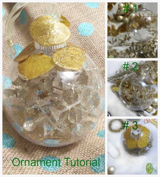 Ornament Exchange Tutorial, Summary of the Steps of the project, Supplies, Filler, Trim, and complete.