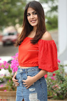 Rhea Chakraborty in Red Crop Top and Denim Shorts Spicy Pics ~  Exclusive 240.JPG