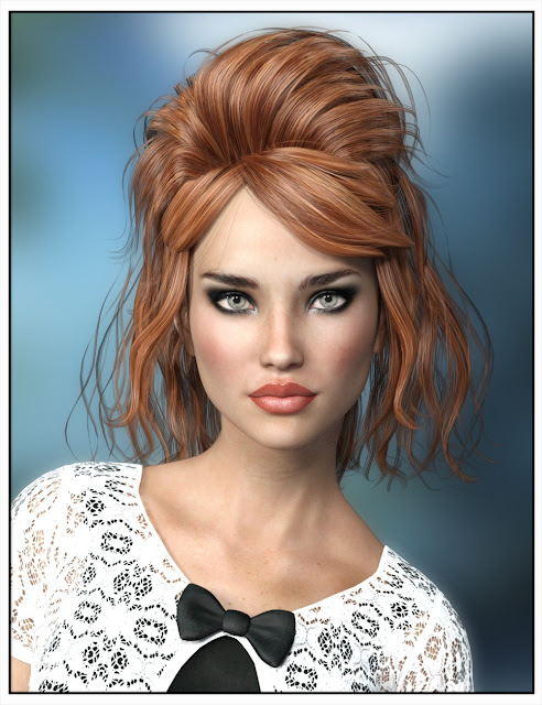 Josina Hair for Genesis 3 Female