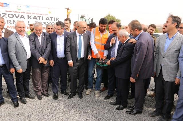 Bozova'da katık atık tesisinin temeli atıldı