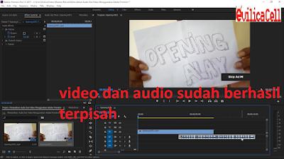 Video dan Audio Sudah Terpisah