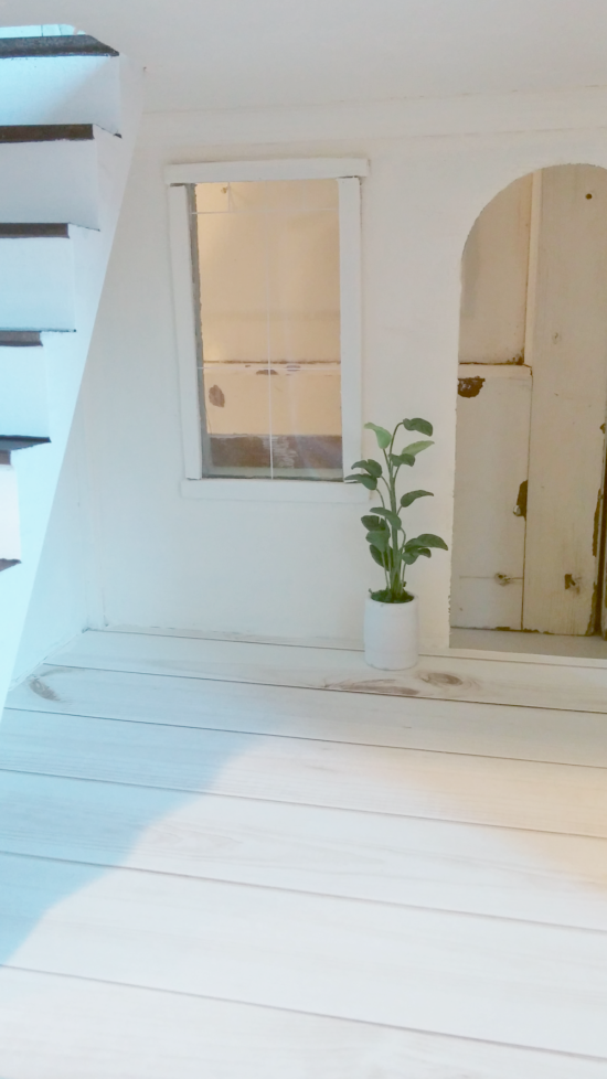 Dollhouse living room makeover details