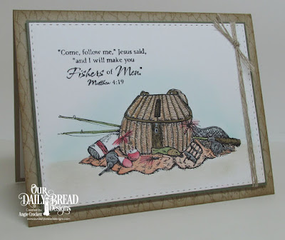 ODBD Fishing Basket, ODBD The Waves On The Sea, ODBD Fishing Net Background, ODBD Custom Double Stitched Rectangles Dies, Card Designer Angie Crockett