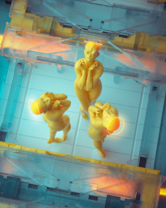 Darius Bartsy artstation deviantart arte ilustrações ficção cyberpunk surreal photoshop