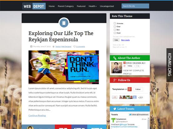 Web depot Blogger template