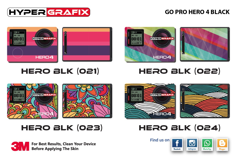 go pro hero 4 black skin sticker sharing my ceritera. Black Bedroom Furniture Sets. Home Design Ideas