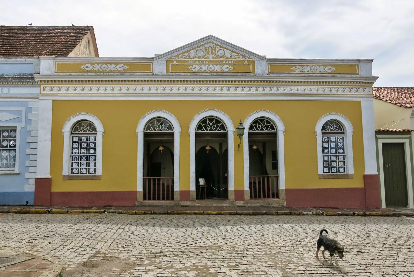Theatro SãoJoão, no Centro histórico da Lapa, no Paraná.
