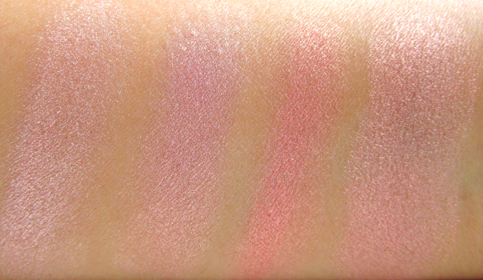 Swatches: I Heart Makeup Blushing Hearts Triple Baked Blusher - Peachy Pink Kisses - Makeup Revolution