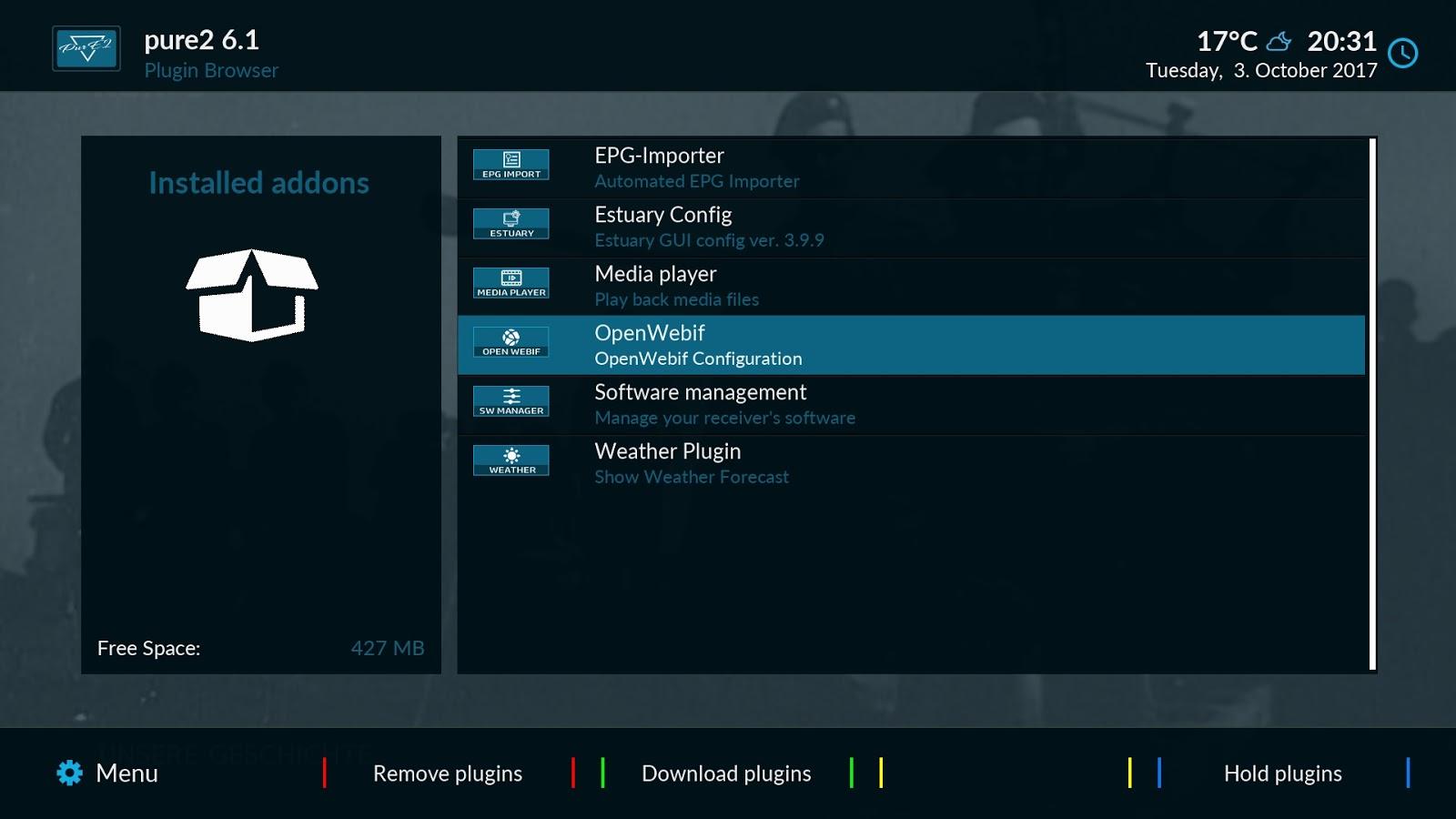 FW E2: PurE2 V6 2 (15MAR18) - mysatbox tv