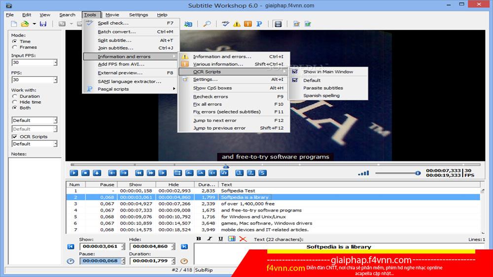 Subtitle Workshop 6 0 - Phần mềm tạo phụ đề video đơn giản