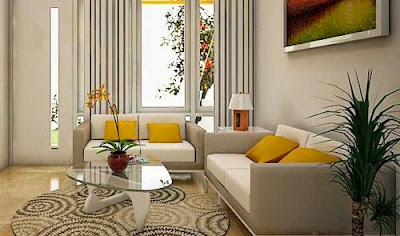Ruang tamu sempit sering menjadi problem pada  45 Ide Desain Interior Ruang Tamu Sempit