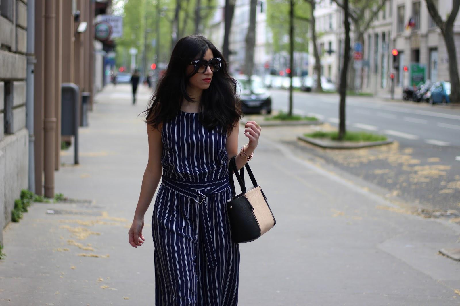 blog mode, blog mode lyon, blog mode lyon paris, blog mode paris, newlook, discoverss16, blogueuse mode, blogueuse lyonnaise, combinaison rayée, emmanuelle khanh, sabatier 1947
