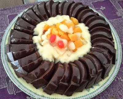 Resep Puding Coklat Vla Jeruk