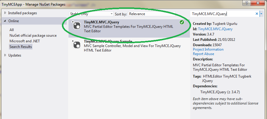 The ASP NET MVC Club: Step by Step how to use the TinyMCE