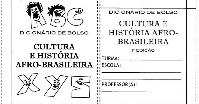 Mini Dicionário Afro Brasileiro Para Montar Espaço Educar