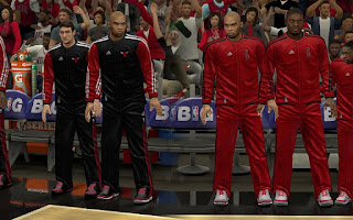 NBA 2K13 Chicago Bulls Warmup Uniforms Mod