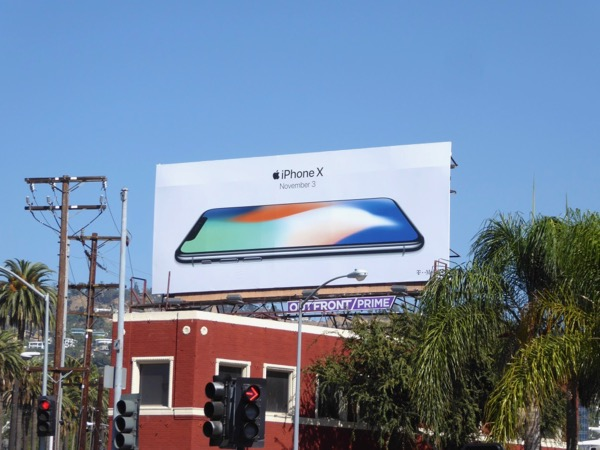 iPhone X billboard