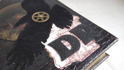 Черный ворон - мужской ежедневник кожа, датированный ежедневник